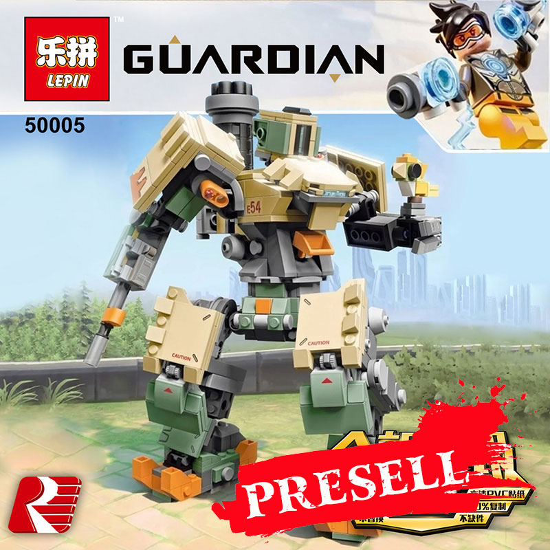 Lepin 50005 Overwatching Games Compatible Legoing 75974 Bastion Model Set Building Blocks Bricks Educational Toys Christmas Gift цена
