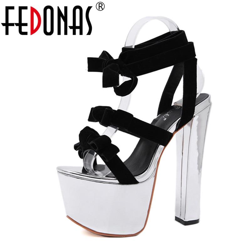 Femmes Parti Night Mode Classique Chaussures Sandales Sexy Lacets Bal Fedonas À De Nouveau Club Pour Talons 2019 Été Femme Noir Super Hauts UOdwX7qx7