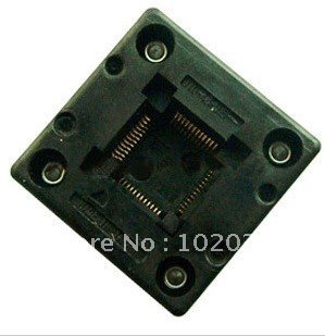 цена 100% NEW QFP48 TQFP48 LQFP48 IC Test Socket / Programmer Adapter / Burn-in Socket (OTQ-48-0.5-01)