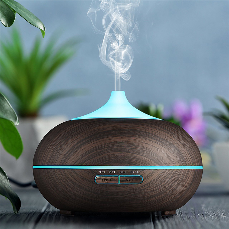 300ml Air Humidifier Essential Oil Diffuser Aroma Lamp Aromatherapy Electric Aroma Diffuser Mist Maker for Home Wood Humidifiers     - title=