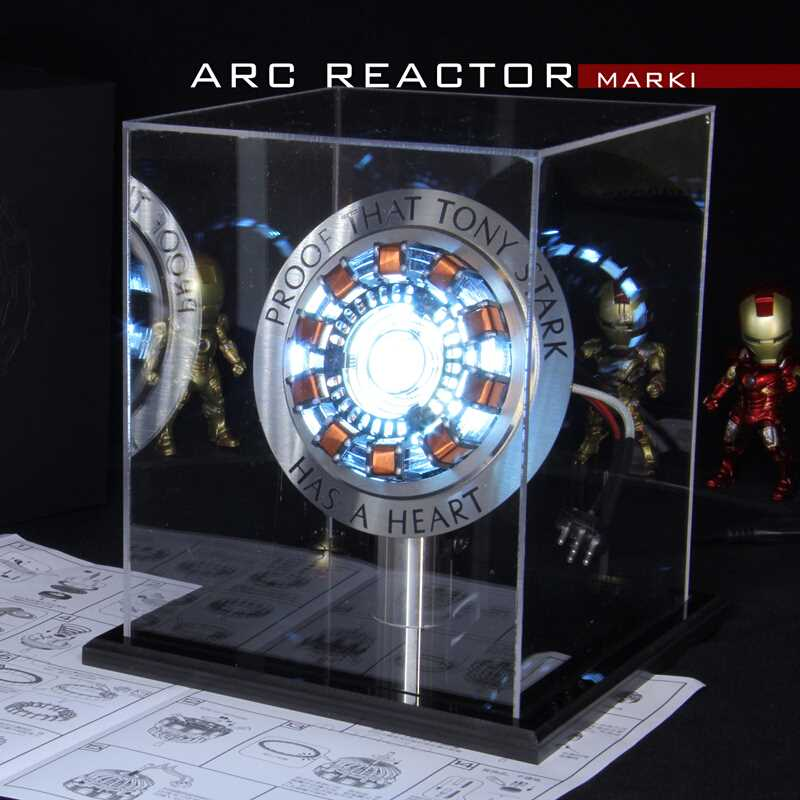 Display-Stand Model Assembled-Core Arc-Reactor Remote-Light Iron-Man MK1 with English-Manual