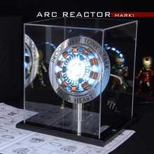 1:1, Железный человек, дуговой реактор, дистанционный светильник, Arc MK1, Железный человек, самодельные детали, модель, сборный основной стенд(с английским руководством) AG672