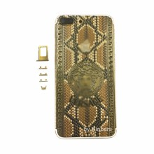 For iPhone 7 Plus 5.5″ 24K 24KT 24CT Gold Indian Diamnond Crystal Back Cover Housing Middle Frame Replacement with LOGO&Buttons