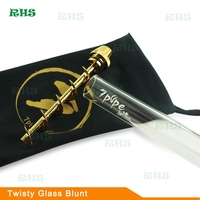 Authorization 2pcs free shipping Original 7 Pipe Twisty Glass Blunt Pipe V12 Glass Bubbler Kit Smoking Pipes Accessory