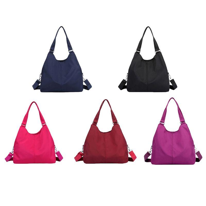 Women Hobo Bag Big Capacity Waterproof Shoulder Tote Multi-function Nylon Purse Handbag Travel Organizer