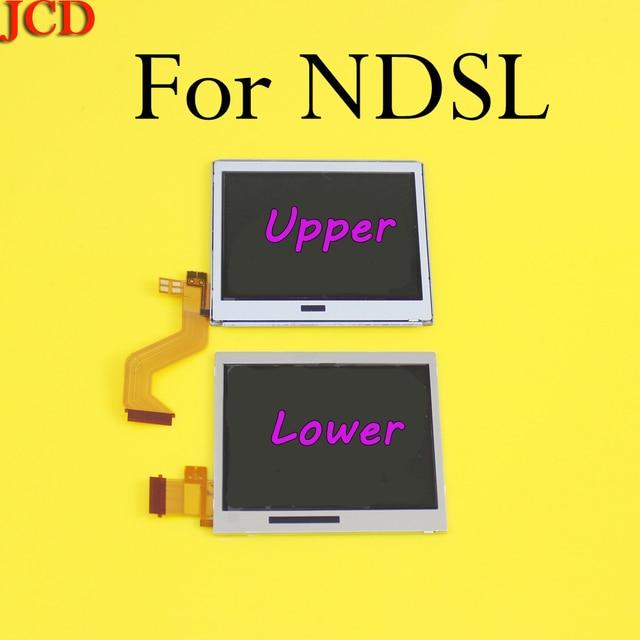 10 ชิ้น/ล็อตด้านบนจอแสดงผล LCD สำหรับ Nintendo DS Lite DSL ด้านล่างสำหรับ NDSL DSLite
