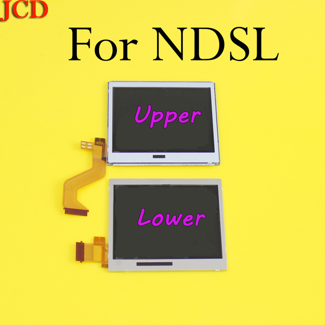 10 أجزاء/وحدة العلوي العلوي شاشة الكريستال السائل قطع غيار للشاشة لنينتندو DS لايت ل DSL أسفل السفلي ل NDSL DSLite