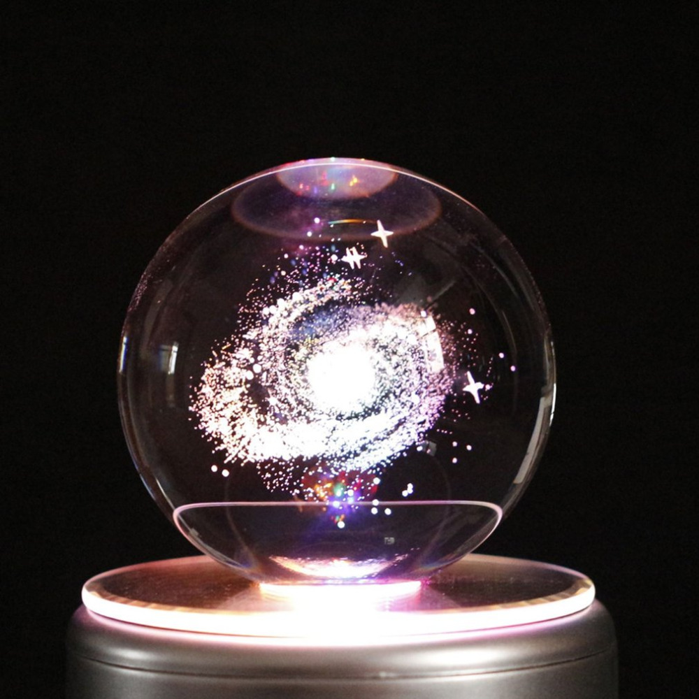 Beautiful Colorful LED Crystal Ball Music Box Home Decoration Music Box for Children Kids Best Gift Toys With 18 Music Drop Ship