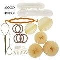 Beige/Coffee/Black Lady Hair Styling Tool Kit  Base Accessory Maker Pads Hairpins Clip Insert Tool Blonde Hair Bun Donut Set