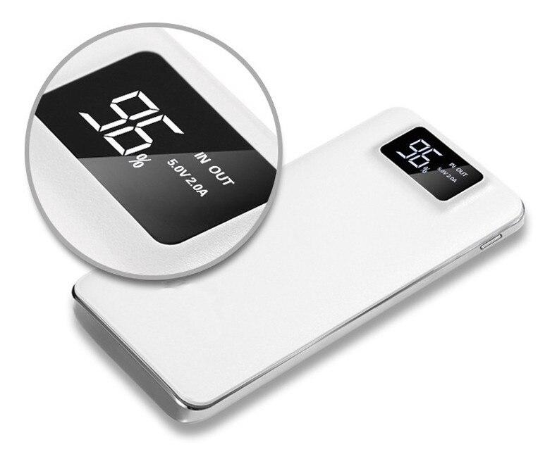 Новый Мощность Bank 20000 мАч двойной USB Мощность банк Портативный Зарядное устройство Внешний Батарея повербанк для iPhone 7 6 5 4X8 для Xiaomi Mi
