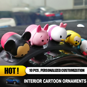 Image 4 - Universal for Mini Cooper Cartoon Fashion Cool Decoration Lovely Pig Dog Bear Style Plush Toy Decoration Interior Accessories