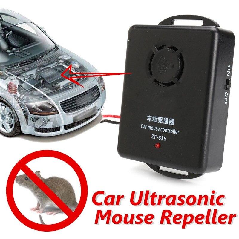 12v car ultrasonic mouse repeller car truck engine pest rat repellents rodent controller. Black Bedroom Furniture Sets. Home Design Ideas