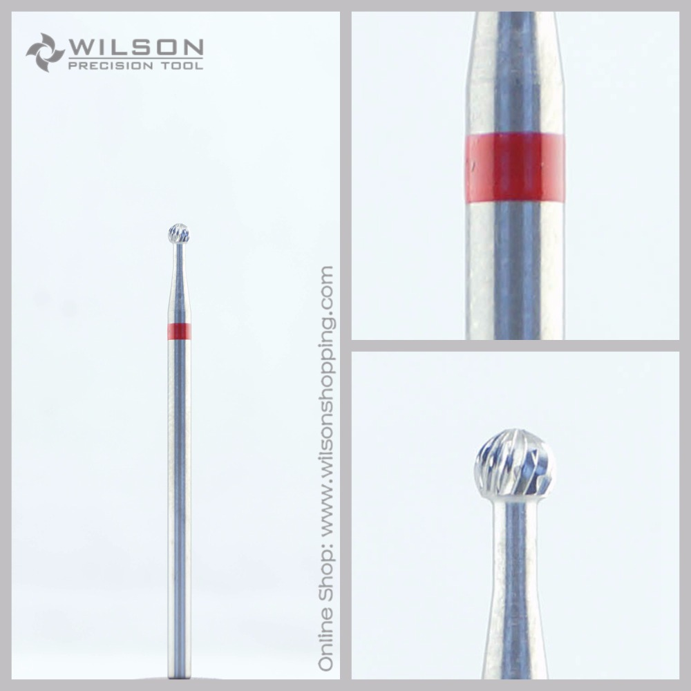 Cross Cut - Fine(5000201) - ISO 140 - Tungsten Carbide Burs - WILSON Carbide Nail Drill Bit&Dental Burs volcano bit fastest remove acrylics or gels one directional for right hand use only wilson carbide nail drill bit