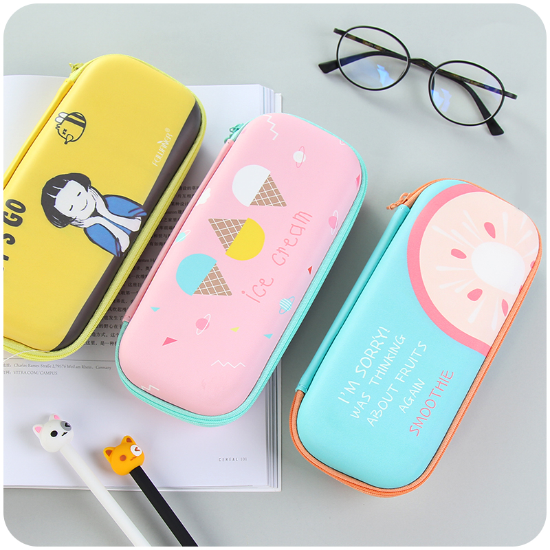 cute Stationery Box Girls Pencil Case For School Pencil Cases Kawaii Papeleria Stationery For Kids Trousse Scolaire Stylo Kawaii kawaii cartoon girls folding multifunction school supplies pencil case cute stationery pen bag pouch box pencilcase for gir b157