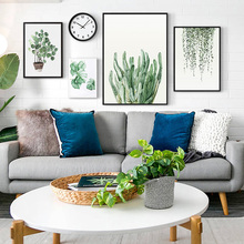 Nordic Posters Plant Green Leaves Canvas And Print Wall Art Canvas Painting Picture For Home Decoration No Frame 50*70cm
