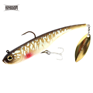Kingdom 2019 Hot Fishing lures 200mm 52g Soft Baits With Spoon On Tail Sinking Good Action Artificial Bait PVC Soft Lures(China)