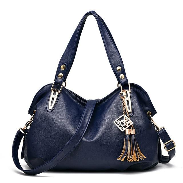 f0763880304d MONNET CAUTHY Female Bags Office Ladies Concise Leisure Fashion Shoulder Bag  Solid Color Navy Blue Black