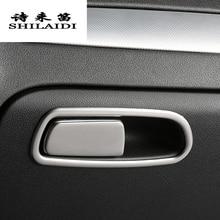 Стайлинга автомобилей пилот коробка для хранения переключатель ручка Стикеры Обложка украшения отделка рамка для Audi A4 B8 A5 Q5 интерьер авто аксессуары