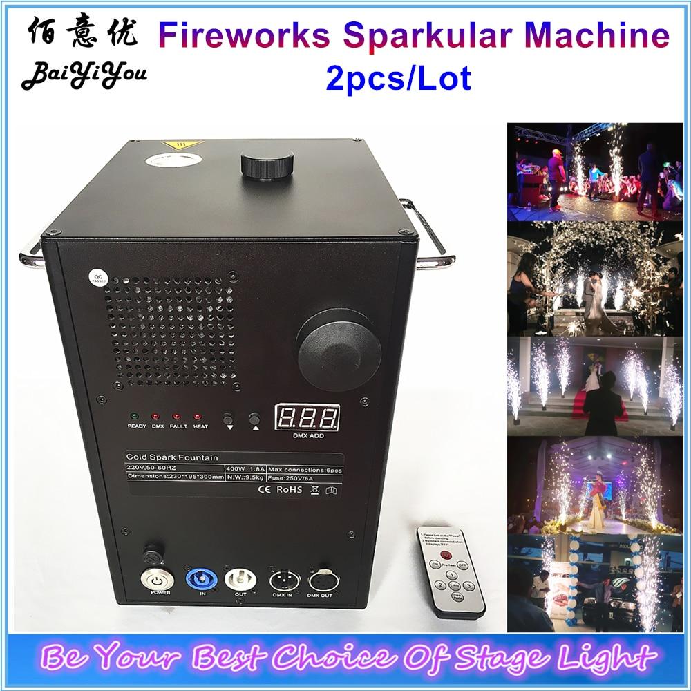 2x Safe Intelligent Cold Spark Fireworks Sparctic Machine Stage Effect DMX Sparkular Machine For Indoor Outdoor