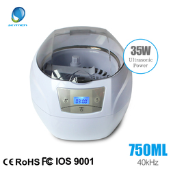 SKYMEN 750ml Ultrasonic Cleaner bath watch glasses Jewelry Coins Rings glasses Manicure Nail Tools 35W/220V Local free shipping