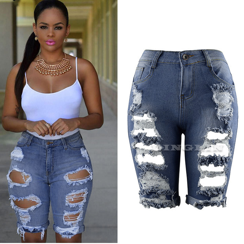 Compare Prices on Ripped Capri Shorts Women- Online Shopping/Buy ...