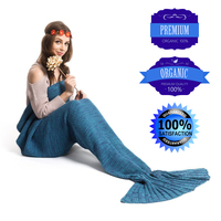 Sıcak Mermaid Battaniye El Yapımı Örme Uyku Wrap TV Kanepe Mermaid Kuyruk Battaniye Çocuklar Yetişkin Bebek tığ işi çanta Yatak Atar çantası