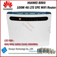 New Original Unlock 100 Mbps HUAWEI B593 4G LTE CPE Sans Fil routeur Avec Sim Card Slot Soutien B1 B3 B7 B8 B20