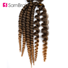 Sambraid Havana Mambo Twist Hair crochet braids Ombre Synthetic Braidi