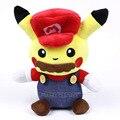 Divertido lindo Pikachu Cosplay Super Mario/Luigi Juguetes de Peluche Muñecos de Peluche Regalos de Los Niños 2 Tipos de Dibujos Animados Suave 26 cm