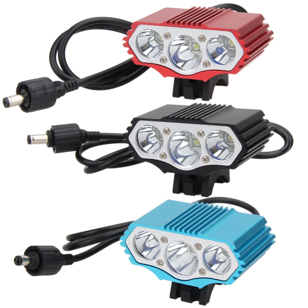 12000LM cykel frontlampe 3 X T6 LED 4-mode cykellys forlygte lommelygte genopladeligt batteri 6400mAh cykel tilbehør