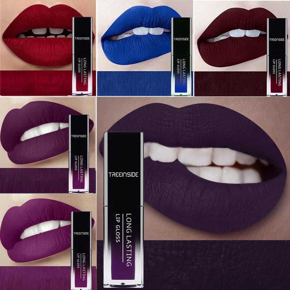 24 Color Liquid Lipsticks Waterproof Makeup Long Lasting Matte Lipstick Red Purple Blue Brown Nude Lip Gloss Women Lips Make Up