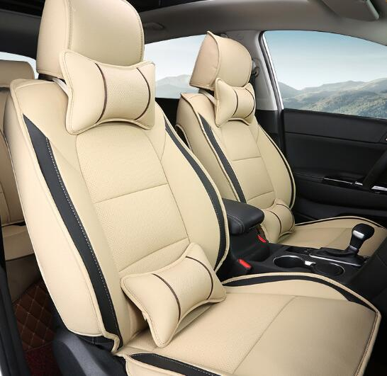 Beige Car Seat Covers Set Interior Covers Car Styling Cushion Protector Car Accessories For KIA KX5 2016 high quality car seat covers for lifan x60 x50 320 330 520 620 630 720 black red beige gray purple car accessories auto styling