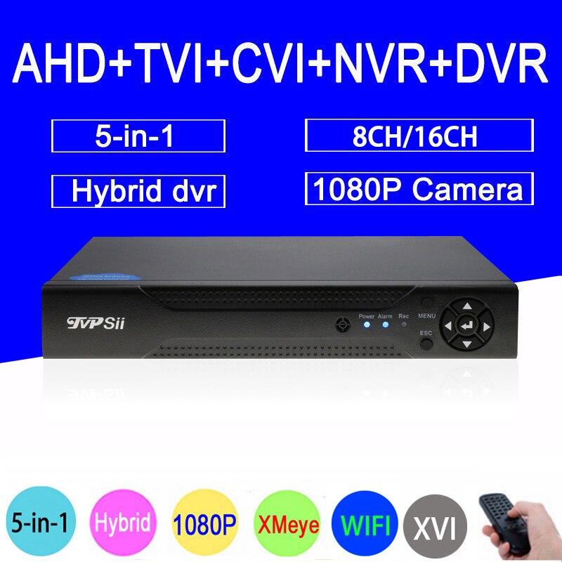 1080 P 2MP Caméra de Surveillance XMeye 16CH/8CH 1080N 6 dans 1 Coaxial hybride Wifi XVI TVi CVI IP NVR AHD CCTV DVR Livraison gratuite