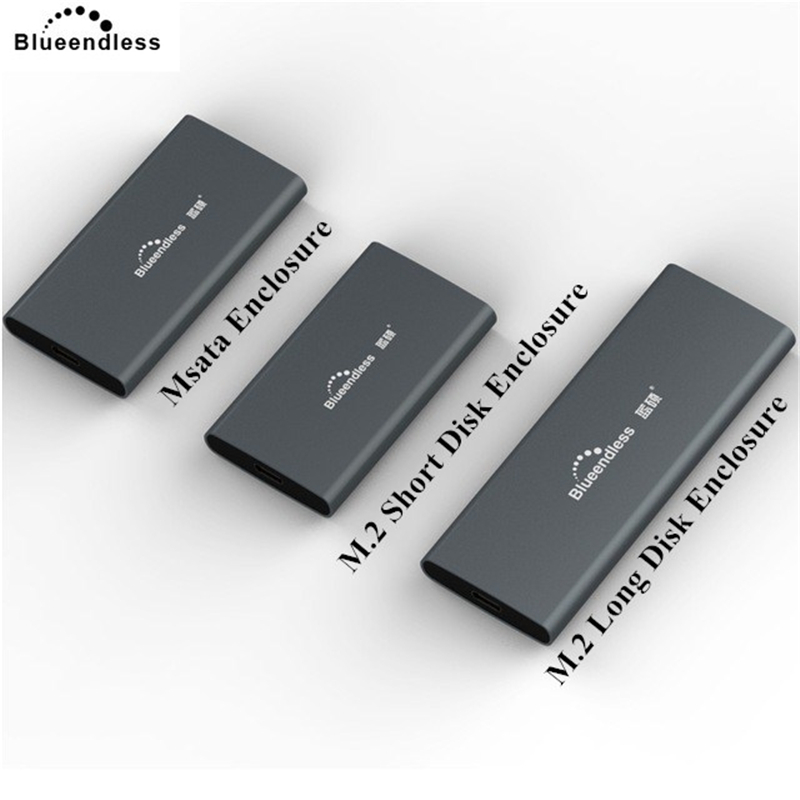 Blueendless Hdd Docking Station 2242/2260/2280 M.2 SSD Case Aluminum 2.5' Msata USB 3.0 External Hdd Caddy Box nas Enclosure