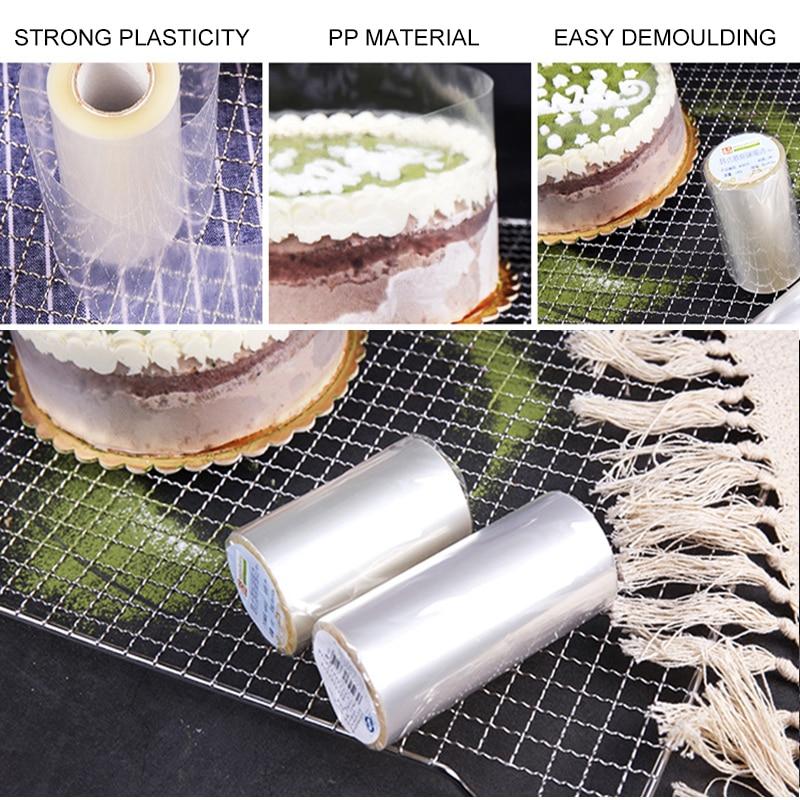 Transparent Mousse Cake Dessert Surrounding Hard Bounded Decorative Sheet Food Film Around Cake Edges PP Plastic Band