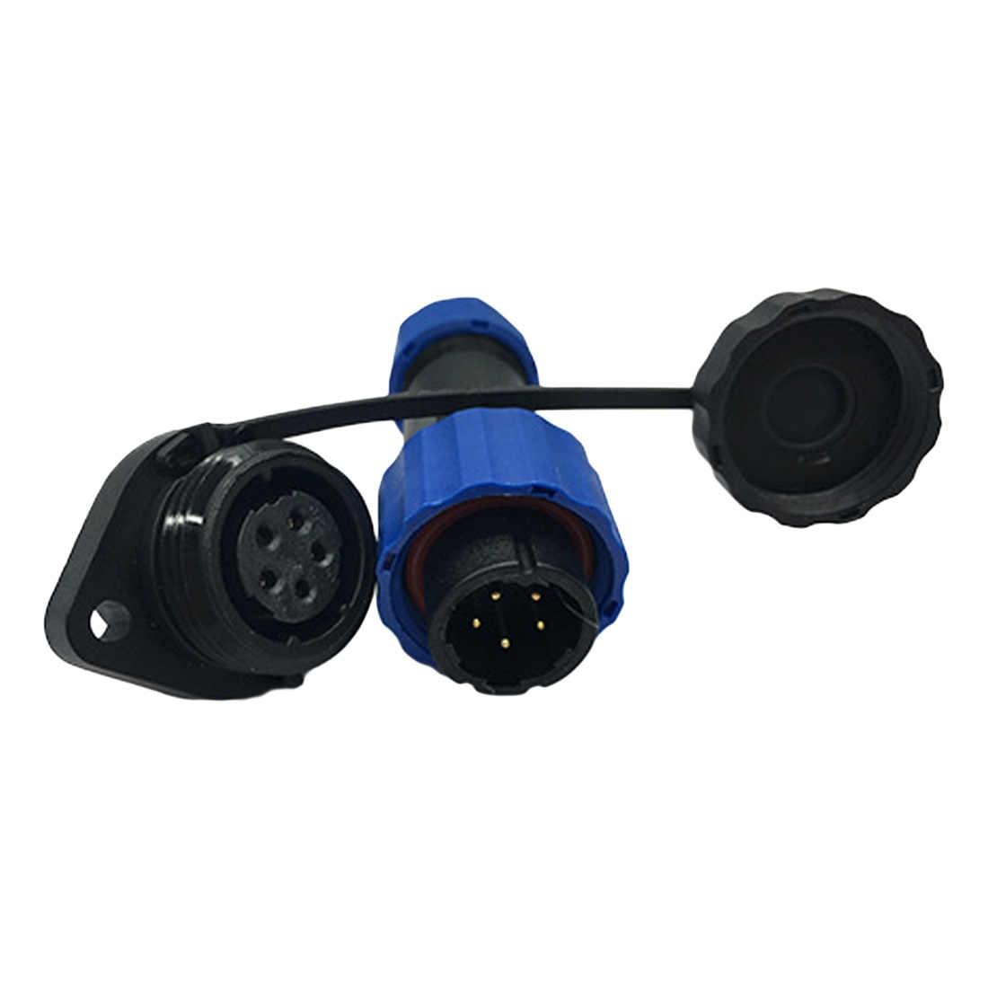 Baru SP16 2pin 3pin 4pin 5pin 7pin 9Pin IP68 Konektor dengan 2 Lubang Flange Tahan Air Konektor Plug dan Socket
