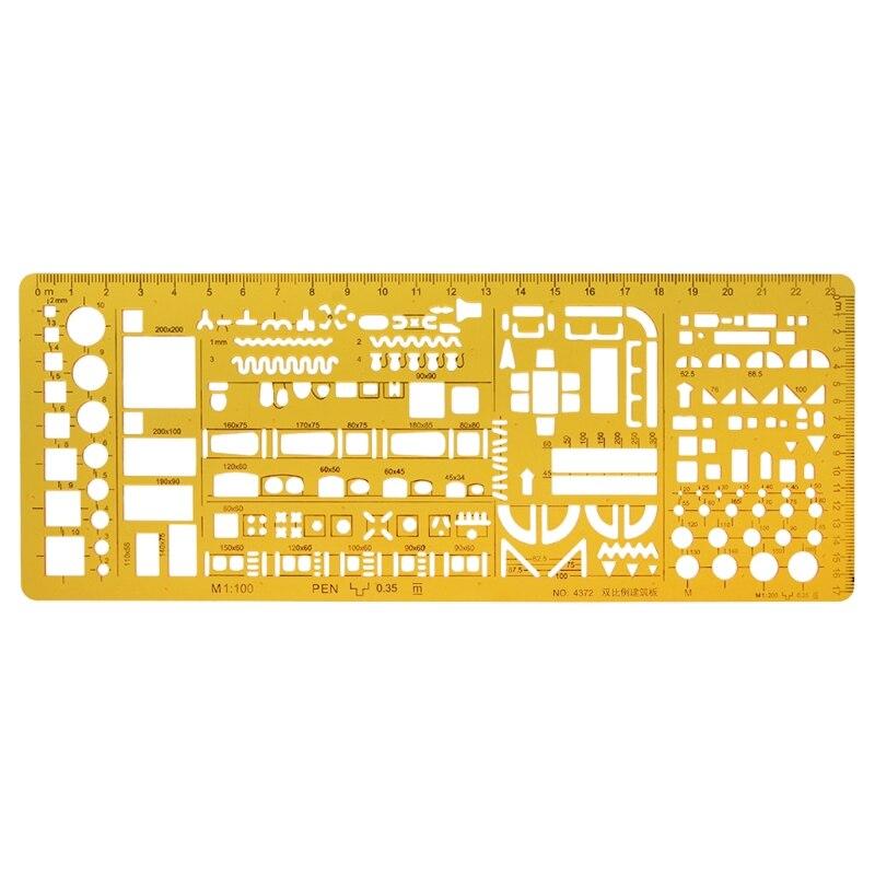 Plantilla arquitectónica profesional regla de dibujo Stencil herramienta de medición estudiante 10166 Maqueta a escala de 5 uds, material de construcción, hoja de PVC, techos de azulejos en tamaño 210x300mm para diseño de arquitectura