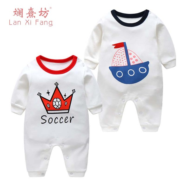 c844f7bbb Cotton Baby Rompers 2018 Spring Baby Girl Clothes Cartoon Baby Boy ...