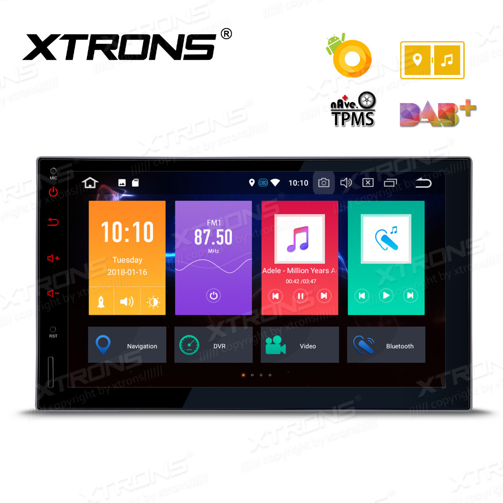 Dynamisch 7 wifi Doppel 2 Din Autoradio Stereo Multimedia Bluetooth Player Gps Antenne 1 Radio 16g Für Android Full Touch-navigation