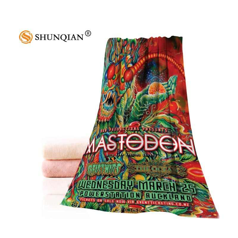 Toalla de Mastodon personalizada caliente impresa cara de algodón/toallas de baño tela de microfibra para niños hombres mujeres toallas de ducha A7.24-1