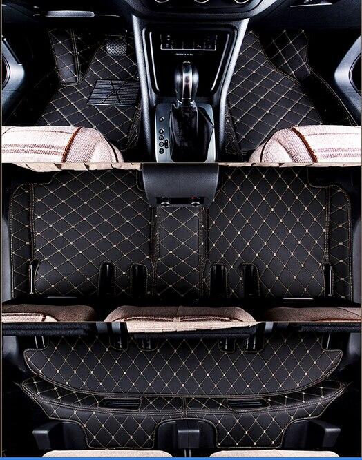 Хорошее качество! Специальные коврики для Ford Explorer 7 мест 2018 2011 водонепроницаемый ковры для explorer 2017, Бесплатная доставка