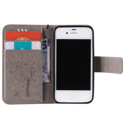 sFor iPhone 4S Case iPhone 4S Case Cover Luxury Wallet PU Leather Case For iPhone 4S 4 S Flip Cover Cartoon Protective Phone Bag 5