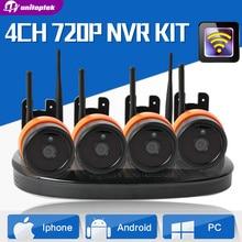 4Ch Беспроводной Ip-камера ВИДЕОНАБЛЮДЕНИЯ Системы безопасности 4 Шт. 720 P WI-FI Ip-камеры NVR Комплект Открытый Водонепроницаемый Ночного Наблюдения видение