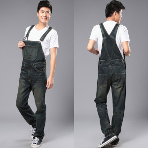 New Fashion Reminisced Men vintage Trousers Casual Jeans FESTA JUNINA loose plus size overalls  zipper denim jumpsuit men pants fashion casual loose denim overalls men large size 46 cargo pants male jeans jumpsuits spring vintage sexy denim trousers 062909
