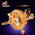 O envio gratuito de alta qualidade da liga de alumínio freio a disco roda pipa carretel de velocidade Variável ouro anti reverso pipas brinquedos ao ar livre voando