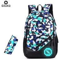 2017 New Style Men Fashion School Bags Backpack Laptop Bag Student Men Backpack For Teenager Boys