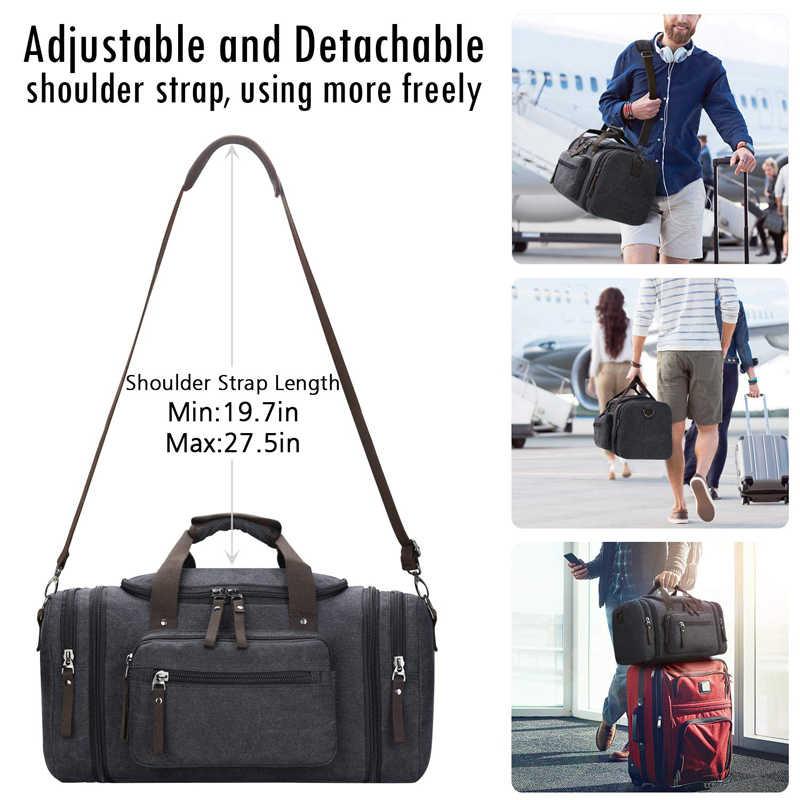 Мужская Дорожная сумка из парусины, многофункциональные кожаные сумки, сумка для багажа, мужская сумка большой вместимости, хозяйственная сумка для выходных