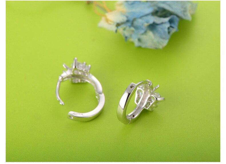 Mode 925 Sterling Silver Luxury Crystal Stud Örhängen Butterfly - Märkessmycken - Foto 3