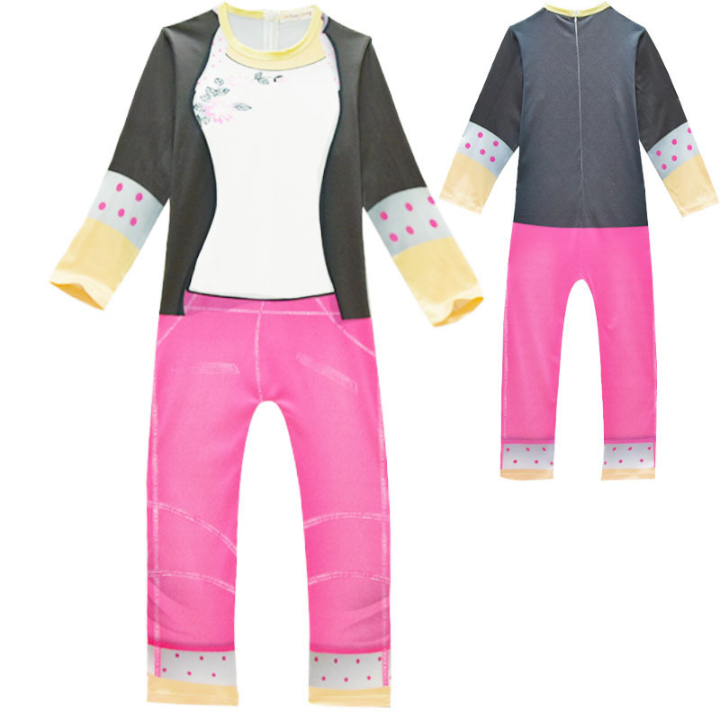 Costume Girls Marinette Jumpsuits Kids Halloween Fancy Party Dress Costumes Lady Cosplay Lycra Suit