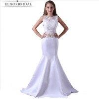 2018 elegante Weiße Kleider Abendkleider Robe De Soiree Flügelärmeln Avondjurken Gala Jurken Meerjungfrau Abendkleid